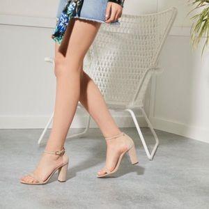 Aldo Shoes - Aldo Nude Block Heel 3.75inches